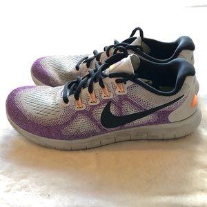 Nike Free RN - Purple/White/Black - Size 7.5